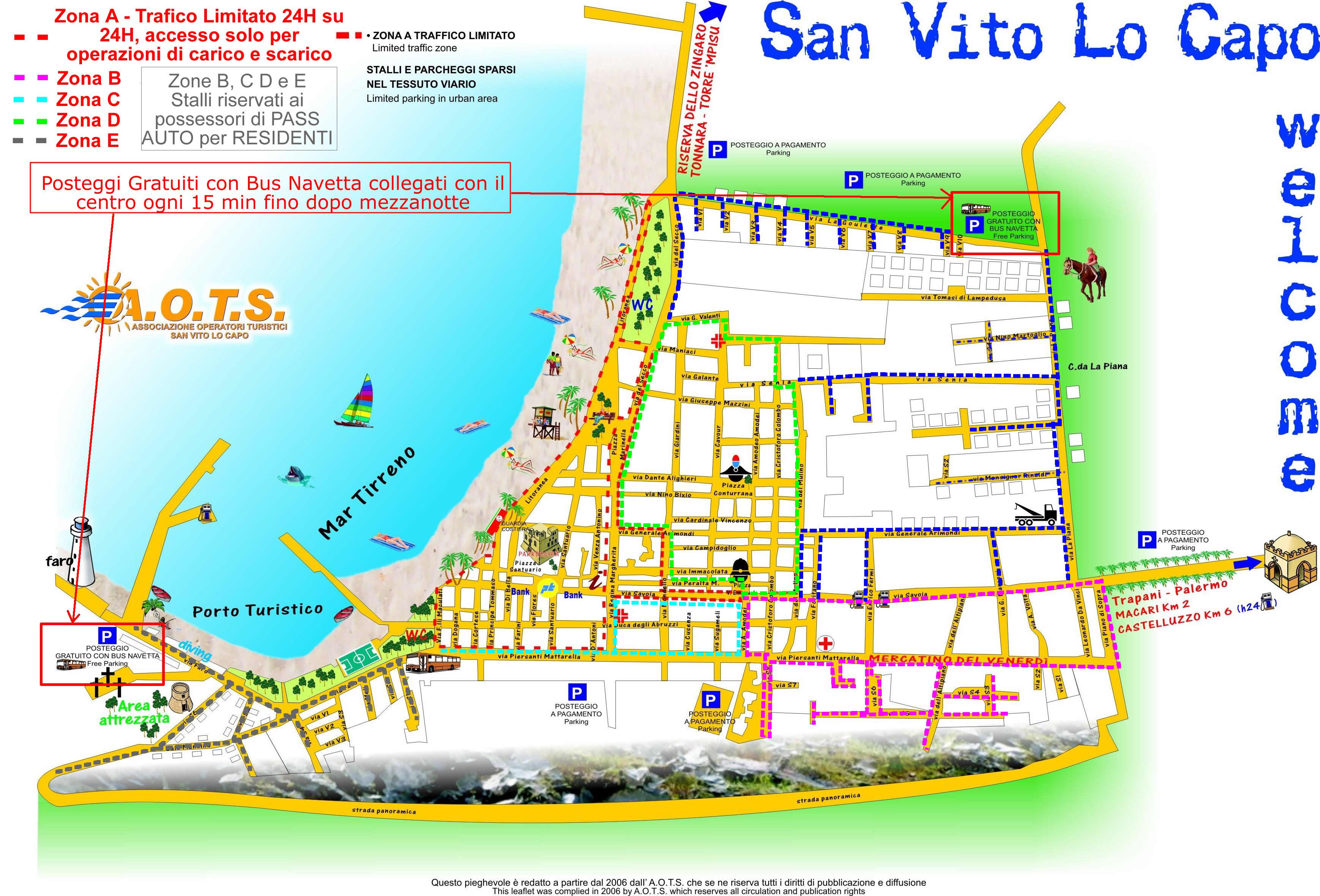 Sicilia Cartina San Vito Lo Capo.Dove Parcheggiare A San Vito Lo Capo Casa Marcella